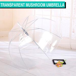 Clear Handle Dome Transparent Rain Umbrella Waterproof Semi-Automatic Umbrellas
