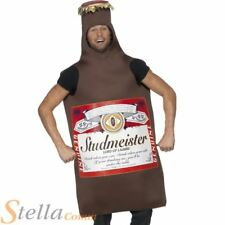Studmeister Beer Bottle Costume Adult Drinking Stag Do Party Fancy Dress Outfit