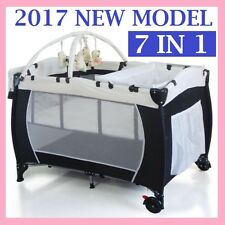 *NEW* 8 In 1 BABY PORTABLE TRAVEL COT BASSINET FOLDABLE PLAYPEN PORTACOT