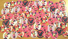 "PRECUT 1"" SET of 56 ""MINNIE MOUSE"" Bottle Caps Images. For Birthdays, Hairbows"