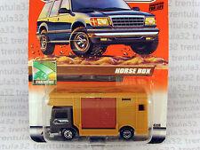 MB 2000 Logo Chase BEDFORD HORSE BOX TRUCK tan grey #49 Treasure Hunt MATCHBOX