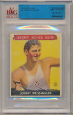 1933 Sport Kings #21 John Weissmuller Authentic Altered   - BVG Vg (3)