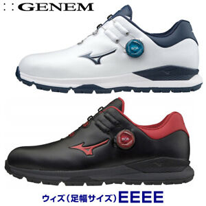 MIZUNO Golf Shoes GENEM 010 BOA EXTRA WIDE 51GQ2000 White Navy From JAPAN NEW