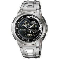 Casio AQF-102WD-1BV Stainless Steel Black Digital Analog Sports Watch with Box