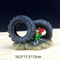 Resin Fish tank aquarium decoration figures Ornament, car tyre Wrench Ornament