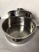 WearEver Stainless Steel 1.5 Qt Sauce Pan Double Pour Spout & Glass Strainer Lid