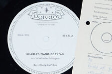 DAS CHARLY BAR TRIO -Charly's Piano-Cocktail- LP Polydor Promo Archiv-Copy mint