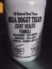 MEGA Dog Treats Glucosamine Chondroitin Real Beef 3 Bottles 3x60 3 Month Supply