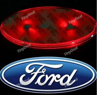 FORD CAR BADGE LIGHT UP RED LED fits MONDEO FIESTA ++ 11x4.5cm (UK SELLER)