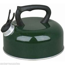 Pendeford Caravan Camping Whistling Kettle 2L Green