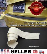 """41"""" White Rear Bumper Rubber Guard Cover Sill Plate Protector For Honda Acura"""
