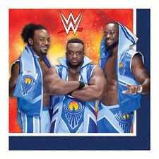 WWE WRESTLING SPORT BIRTHDAY PARTY NAPKINS 16 pack 2 PLY 33CM 510013