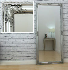 "Marco Antique SILVER Ornate Full Length Floor Leaner Wall Mirror 63"" x 29"" XL"