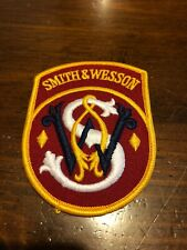 Vintage Smith & Wesson Embroidered Patch. S&W Gun Patch