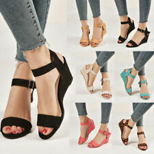 Womens Platform Sandals Summer Peep Toe Wedge High Heel Pumps Casual Dress Shoes