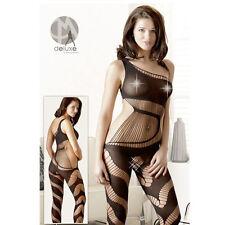 Bodystocking Catsuit Tuta velata Tg S-L | Biancheria intima donna Lingerie sexy