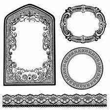 Stamperia Natural Rubber Stamp - Frames & Borders WTKCC156 New Free P & P