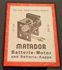 Matador Korbuly Batterie-Motor 4,5 Volt Holzbaukasten Zubehör Erweiterung