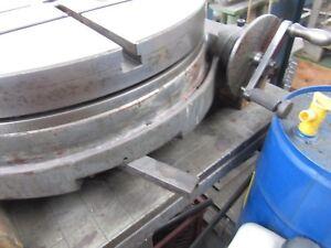 Rundtisch mit Teileinrichtung, horizontal, Fabrikat HURON