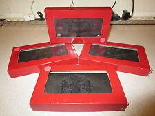 Genuine Stingray & Leather Hand-Braided Biker Wallet - Iron Cross - Red/Black