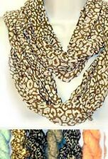 G1001. Infinity Loop Scarf in Animal and Polka-DotsPrint Lot of 24 assorted
