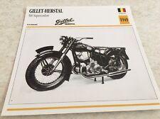 Fiche moto collection Atlas Motorcycle Gillet Herstal 500 superconfort 1949