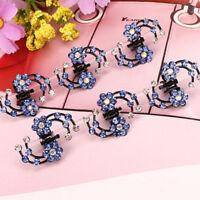 Girls Mini Rhinestone Crystal Bridal Hair Claws Flower Hair Pins Clips Set G