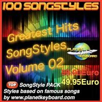 Yamaha Genos Styles PSR-SX900 GREATEST HITS SONGSTYLES VOL 02 Song Styles PSR-SX