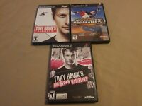 Lot of 3 Tony Hawk PS2 Playstation 2 Project 8, Pro Skater 3, American Wasteland