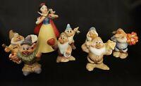 Snow White & 7 Dwarfs Bisque Porcelain Schmid The Walt Disney Co1987