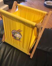 RARE Mashimaro Yellow Collapsible Book Toy Hamper Basket Japan Japanese