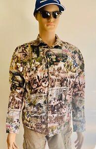 Vintage Haupt Long Sleeved Shirt Medium Hippy Casual Beach Pool Beer Garden