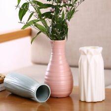 White Plastic Vase Imitation Ceramic Mini Flower Bottle Nordic Style Home Gift
