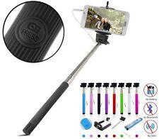 5 x  Selfie Stick Stange Stativ Knopf Monopod Selbstauslöser Android Smartphone