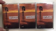 Country Classics Three Cassette Tape Set (1992) RCA BMG BRAND NEW & SEALED L@@K