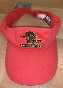 Rochester Rattlers Lacrosse Pro Team Hat Cap Visor MLL Warrior Red NEW Cotton