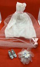 Barbie Fashion Avenue Bridal Wedding Dress w/pink Bow Accessories 1997