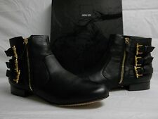 Dolce Vita Size 6 M Bale Black Leather Ankle Boots New Womens Shoes NWOB