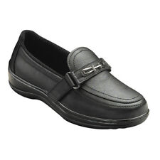 ORTHOFEET Orthotic #817 Chelsea Slip-On-Two-Way Loafers BLACK Women's Size 8 W