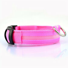 Flashing 2016 Adjustable Small Pet Led Dog Collar Supplies Products Yellow