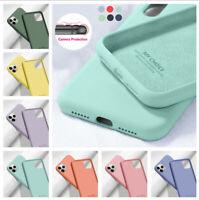 Liquid Silicone Case For iPhone 12 11 Pro Max XS X XR 8 7 6S Plus SE 2020 Cover
