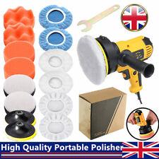 "High Quality Car Polisher Kit Rotary Buffer Sander Machine & 5"" Polishing Pads"