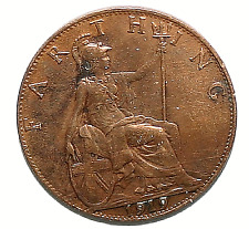 King George V 1919 Farthing Coin Stunning Collectors Example