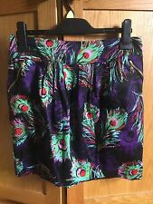 Ladies Skirt Peacock Feather Print Size Large
