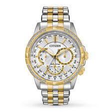 Citizen Eco-Drive Men's Calendrier Diamond Accents 44mm Watch BU2084-51A