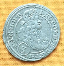 Medieval Austrian Coin - Leopold Silver 3 Kreuzer, 1696.