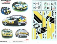 DECAL 1/43 RENAULT R11 Turbo Gra FASA - Puras - Barreras 1987