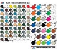 Tamiya X1 To X35 Gloss Acrylic & XF1 To XF86 Flat Acrylic Model Kit Paint UK