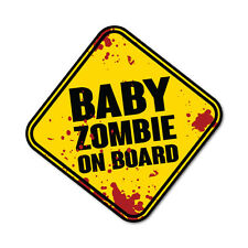 Baby Zombie On Board Sticker Funny Car Stickers Novelty Decals #6002K