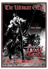 """15/2/86pg45 Album Advert 15x10"""" Ozzy Osbourne, The Ultimate Sin"""